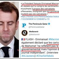 «Emmanuel Macron est un fruit amer, dur à l'intérieur et mou à l'extérieur». #Caricatures suite ...