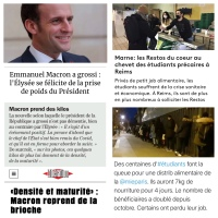 «Le #poids d'Emmanuel Macron est inversement proportionnel à la santé des #étudiants [🇫🇷France].