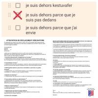 Attestation de déplacement dérogatoire | Version simplifiée #Covid19