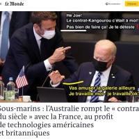 Contrat-raté: L'Australie fait un «saut de Kangourou» à Macron (en sous-marin)...